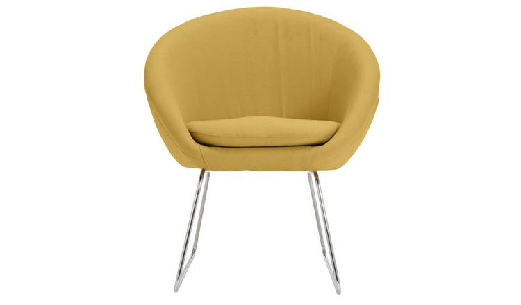 Buy Argos Home Fabric Pod Chair Yellow | Armchairs and chairs | Argos