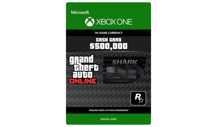 Grand Theft Auto V Bull Shark Xbox One Cash Card