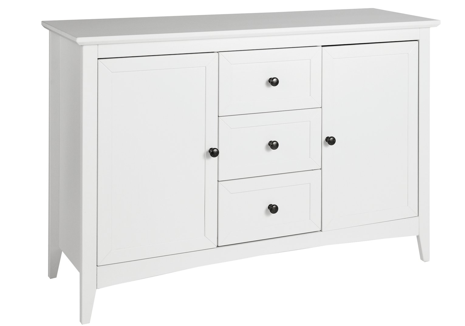 Collection Camborne Large Solid Wood Sideboard - White