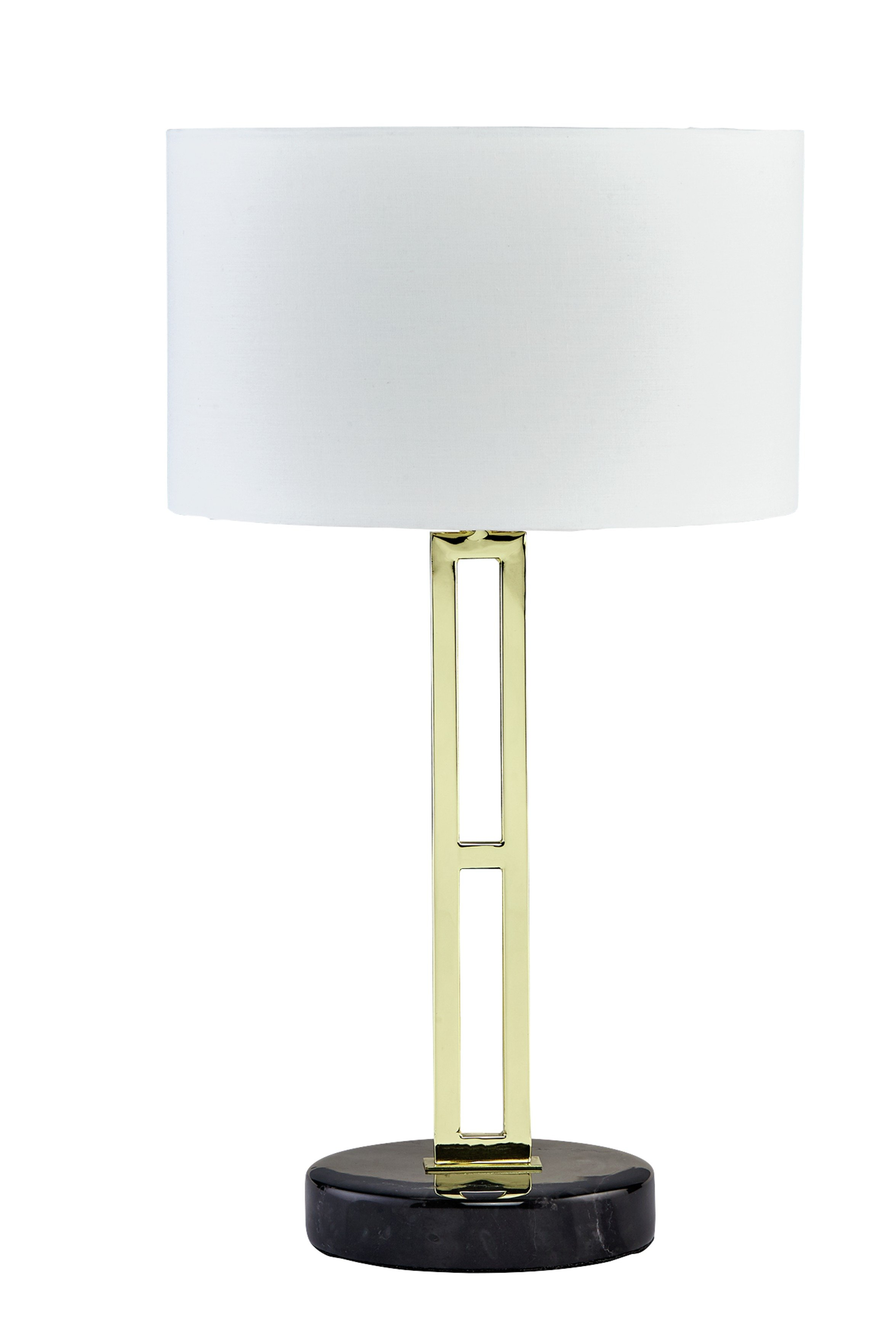 Heart of House Poet Brass & Marble Table Lamp