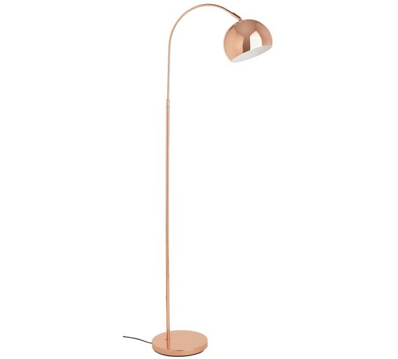 Buy argos home curva floor lamp copper floor lamps argos argos home curva floor lamp copper aloadofball Choice Image