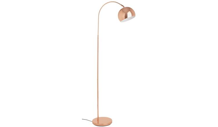 Buy Argos Home Curva Floor Lamp Copper | Floor lamps | Argos