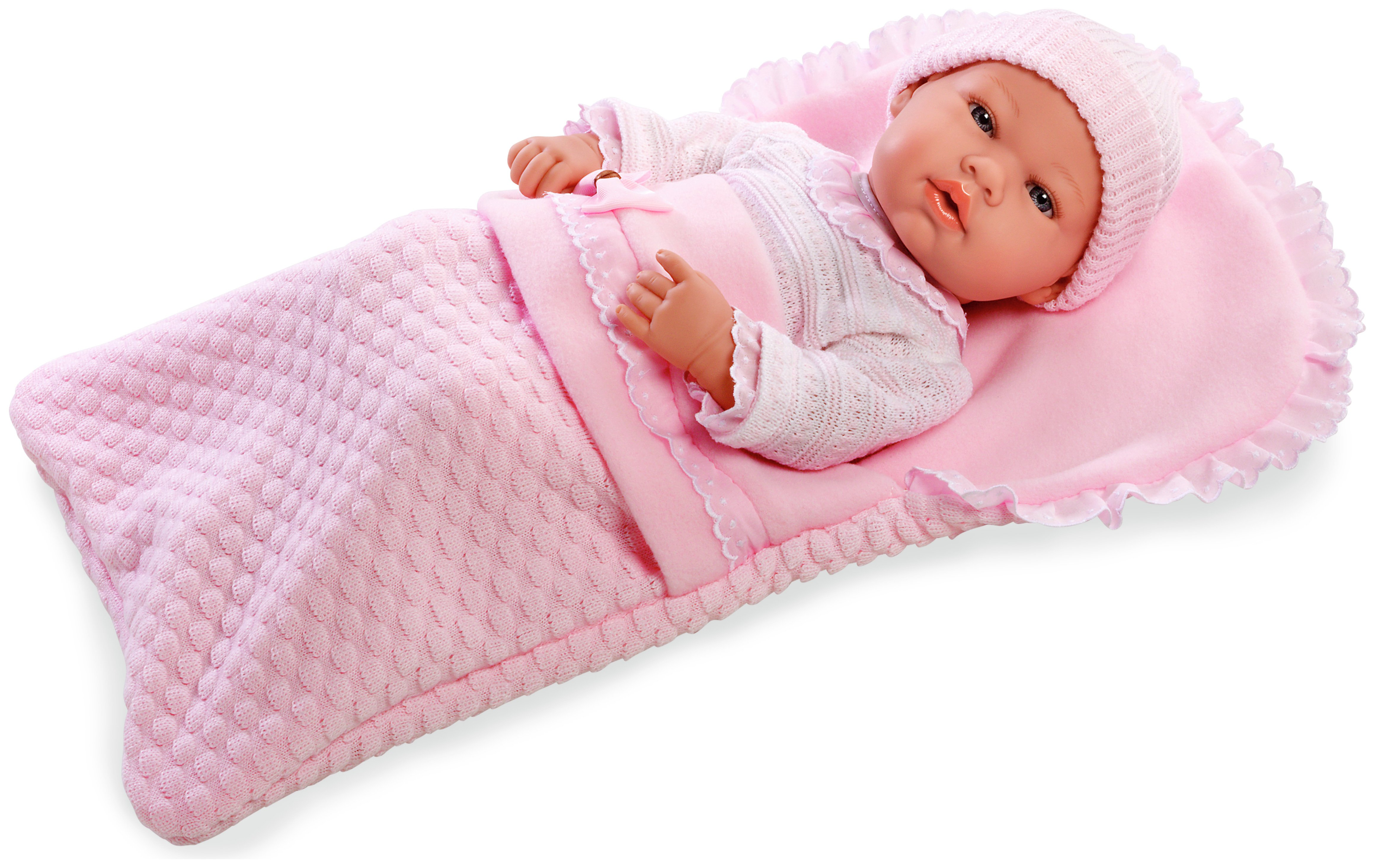 Image of Arias Elegance Baby Doll with Sleeping Bag.