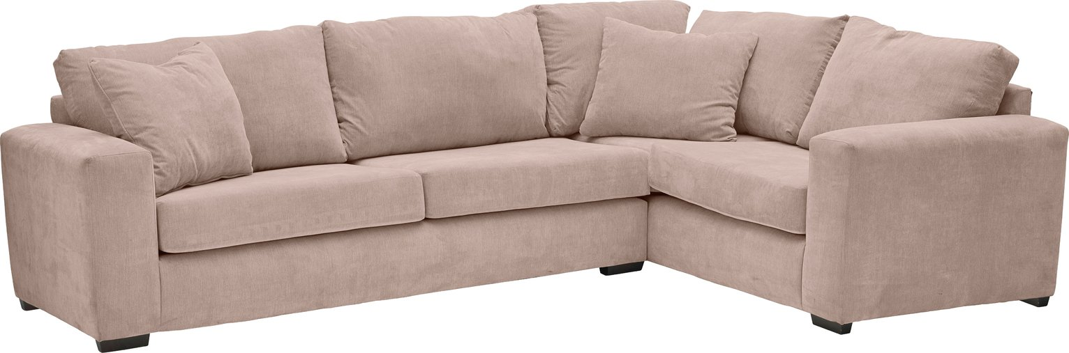 Argos Home Eton Right Corner Fabric Sofa - Old Rose
