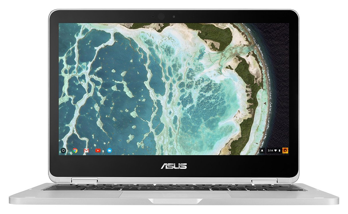 Image of Asus 10.1 Inch Celeron 4GB 64GB Chromebook - Silver