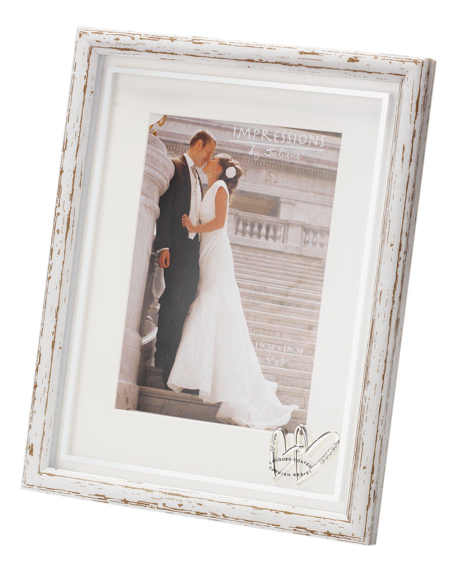 Image of Juliana Wedding Hearts Photo Frame