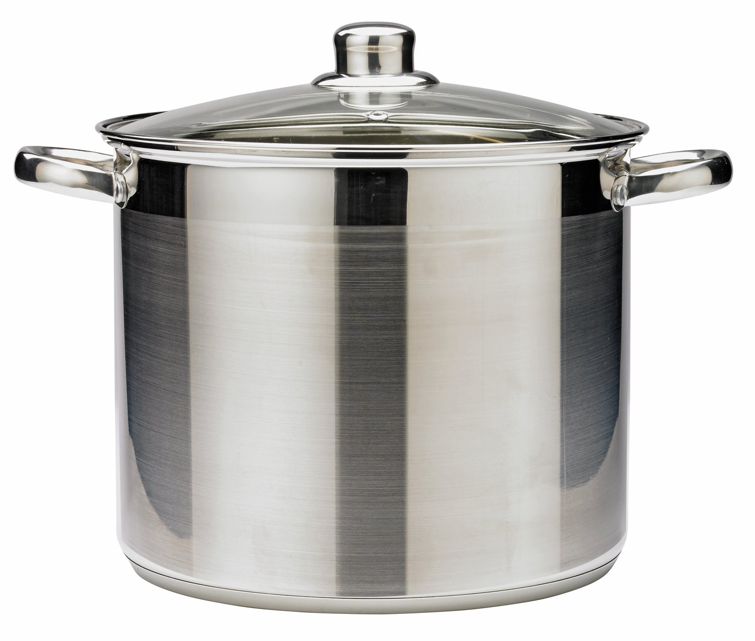 Argos Home 26cm Stainless Steel Stock Pot