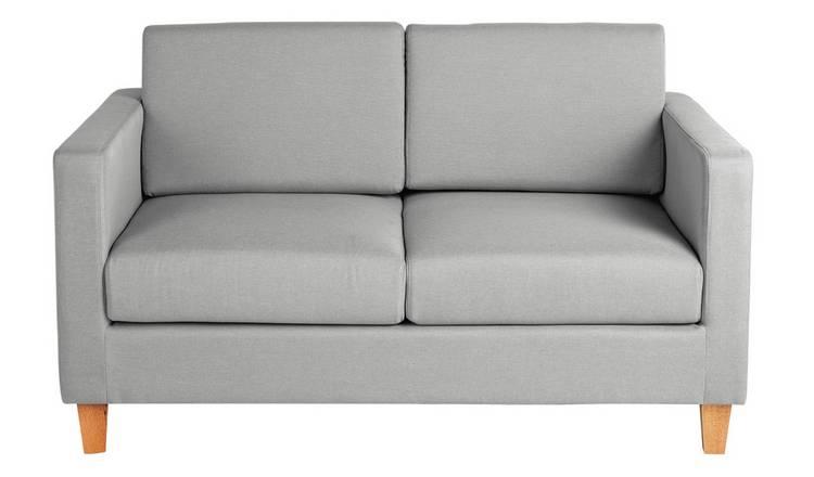 Buy Argos Home Rosie 2 Seater Fabric Sofa Light Grey   Sofas   Argos
