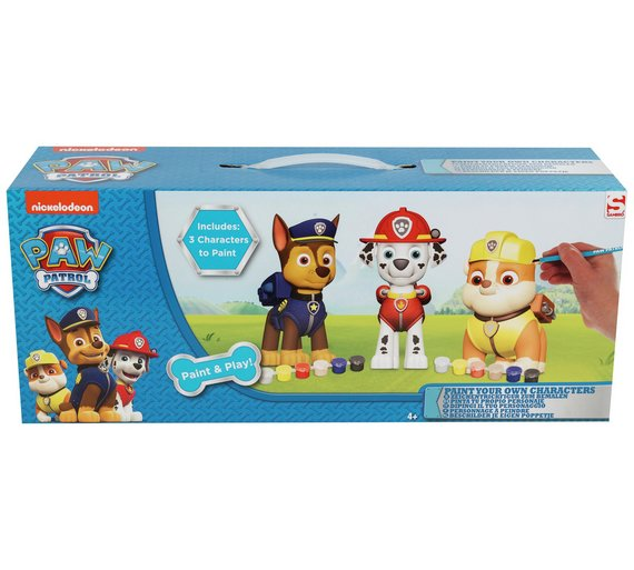 Buy PAW Patrol 3 Pack Paint Your Own Figure | Painting, drawing and ...