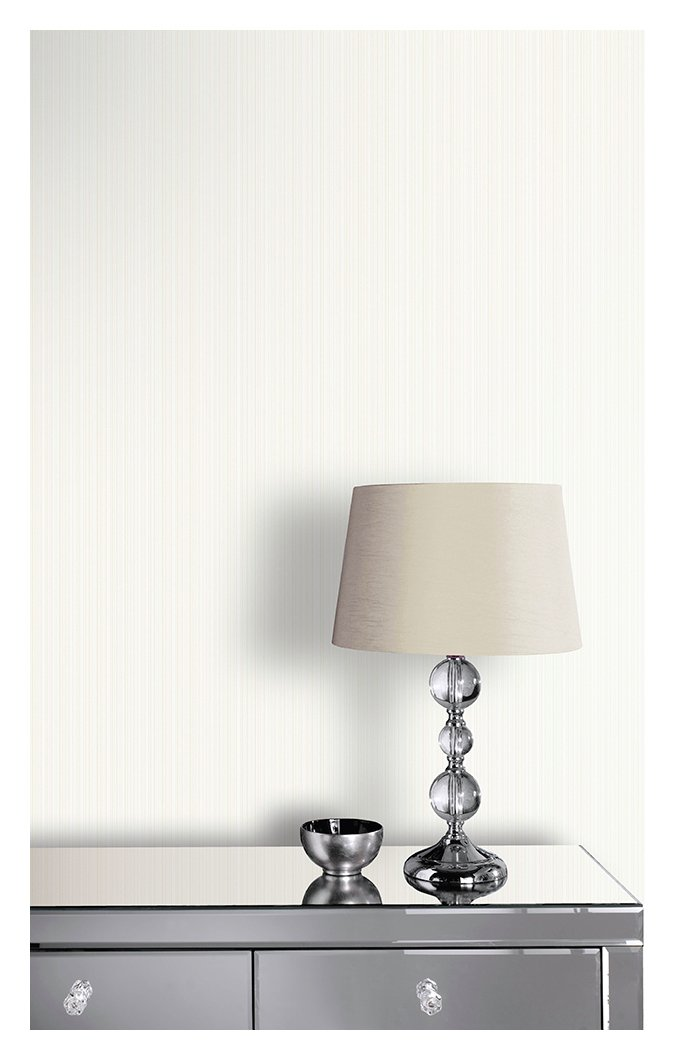 Image of Arthouse Glisten Stripe Ivory Wallpaper