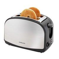 Cookworks 2 Slice Toaster - Stainless Steel