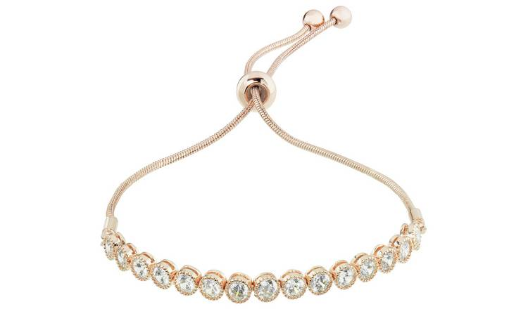 Amelia Grace Rose Gold Colour Snake Chain Bracelet