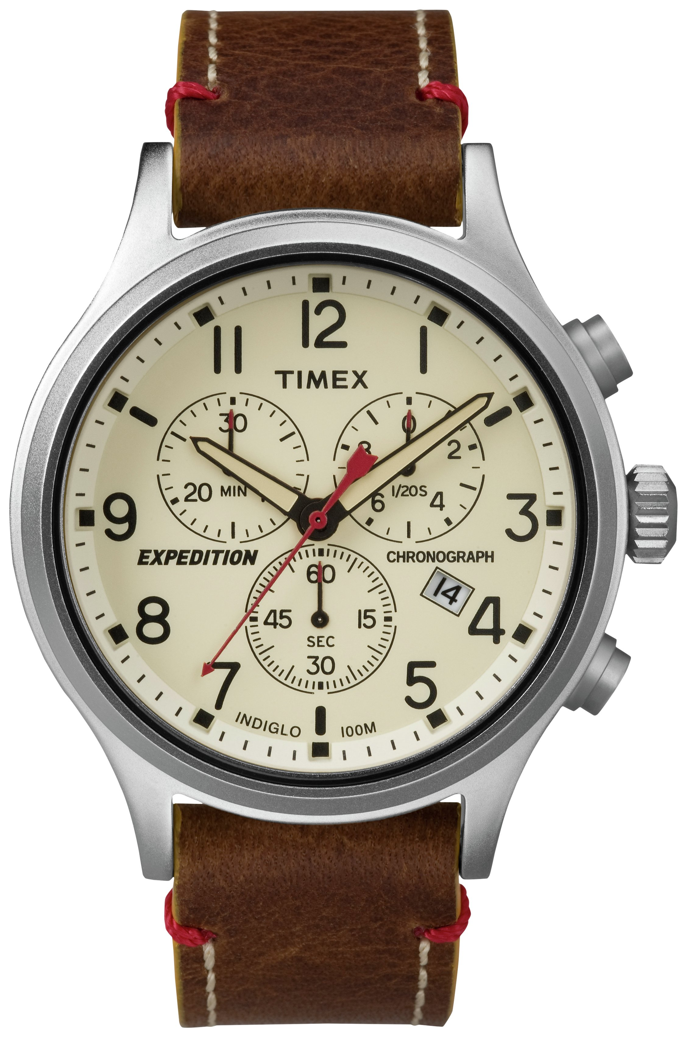 Timex Men's Expedition Scout Brown Strap Watch