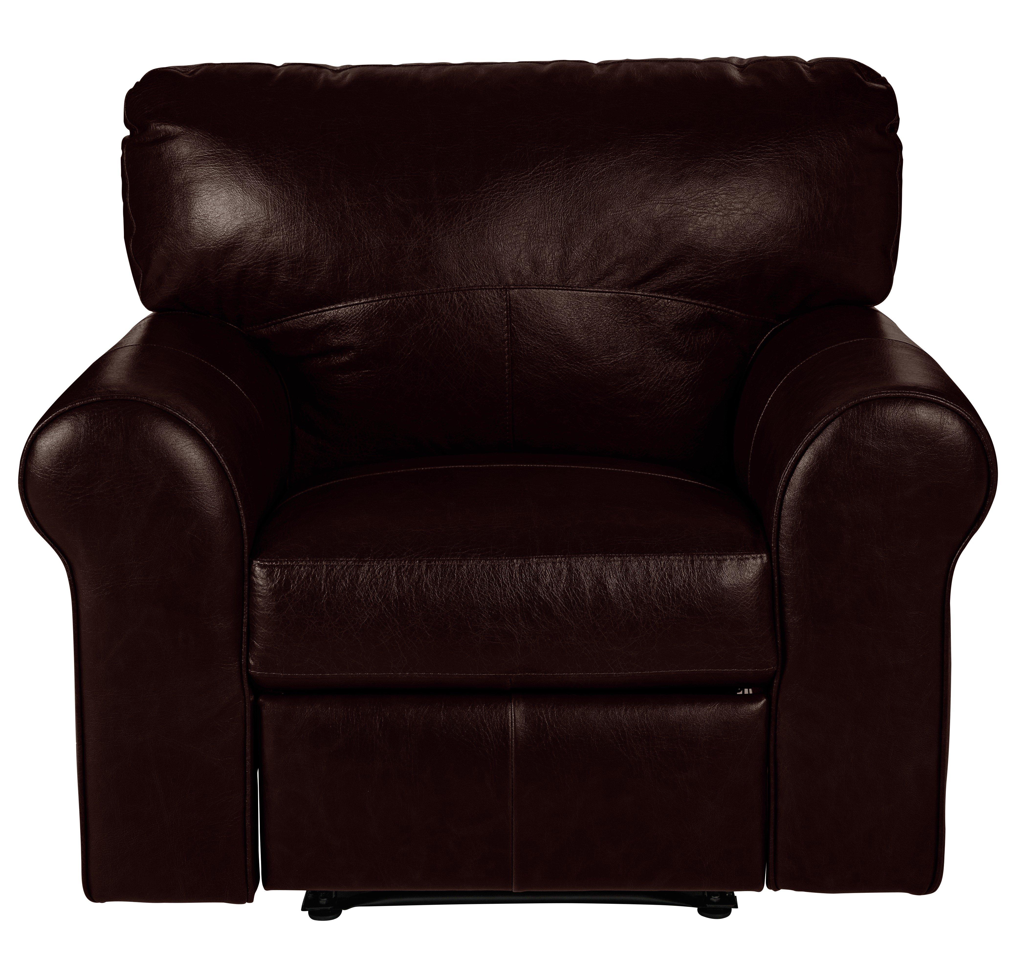 Argos Home Salisbury Leather Recliner Chair - Dark Brown