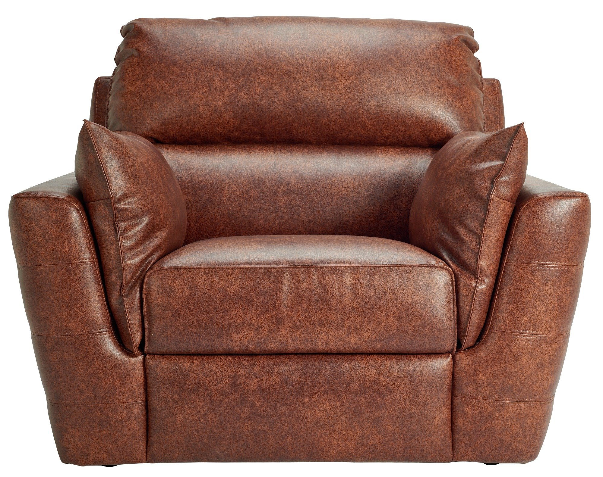 HOME Denver Leather Effect Chair - Chocolate