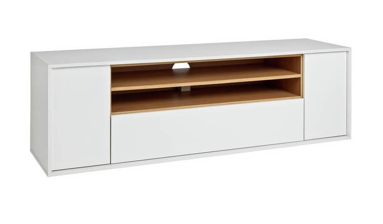on sale 82115 a596d Buy Argos Home Symmetrical TV Unit - White Gloss & Oak Effect | TV stands |  Argos
