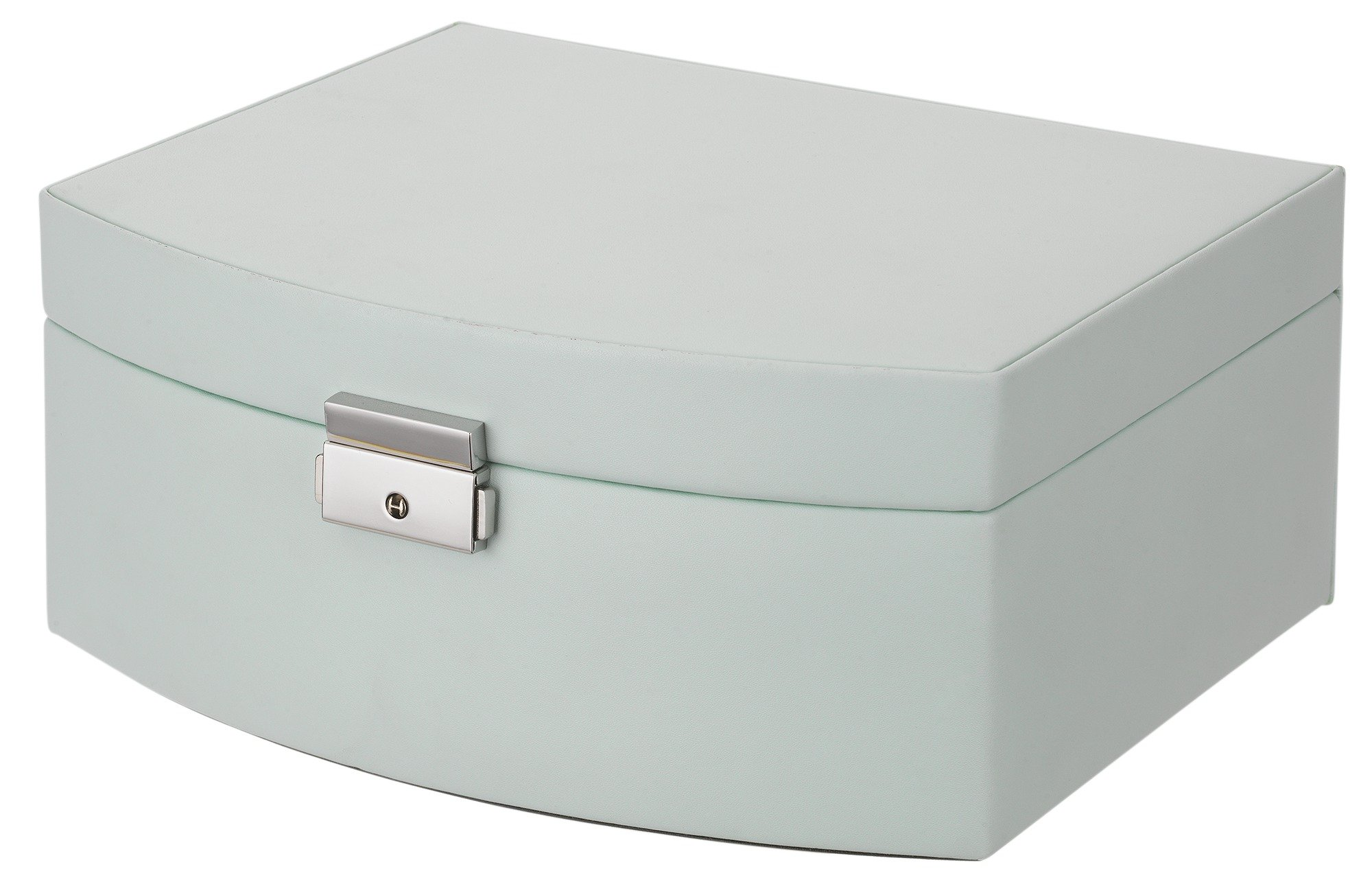 Pastel Green Large Curved Bonded Leather Jewellery Box