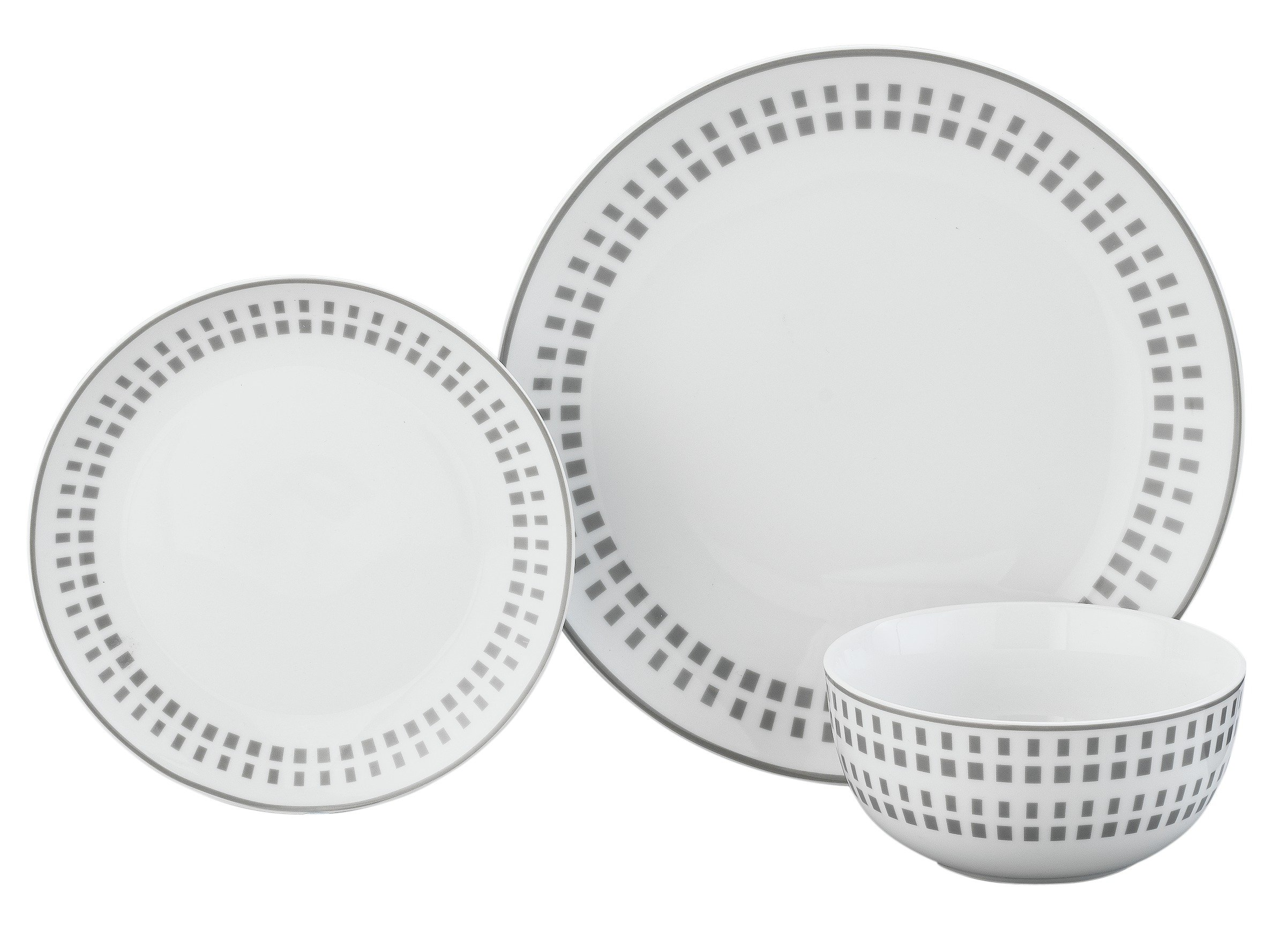 Argos Home 12 Piece Porcelain Dinner Set - Grey