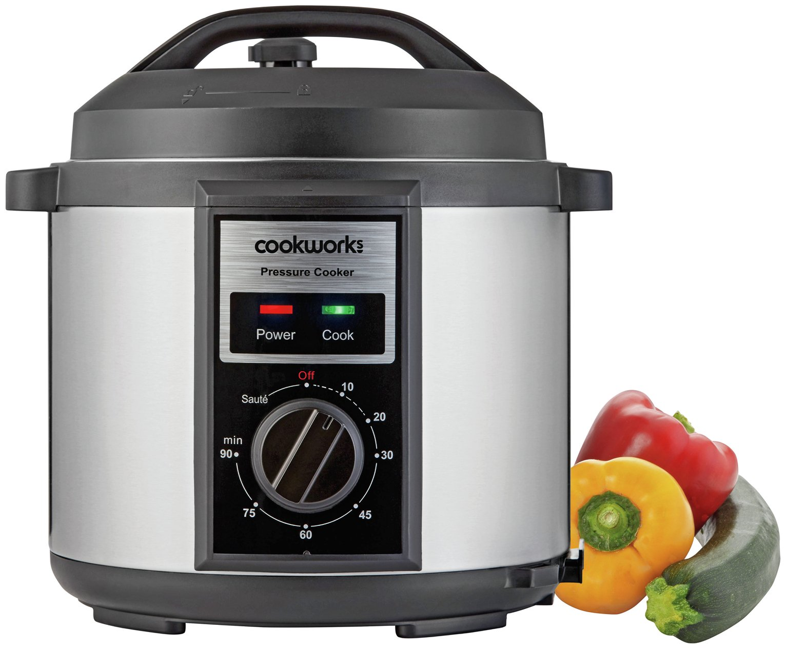 Image of Cookworks Pressure Cooker with Manual Display