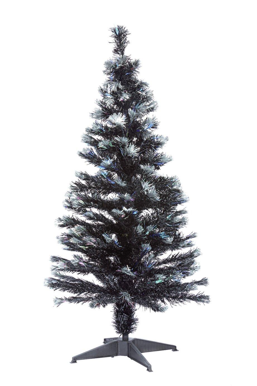 Argos Home 4ft Fibre Optic Christmas Tree - Black
