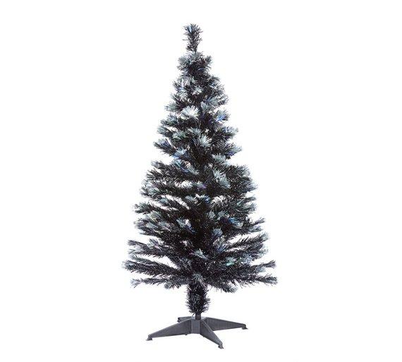 argos home 4ft fibre optic christmas tree black