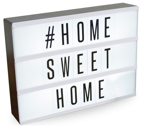 Buy Light Up Message Board | Ornaments | Argos