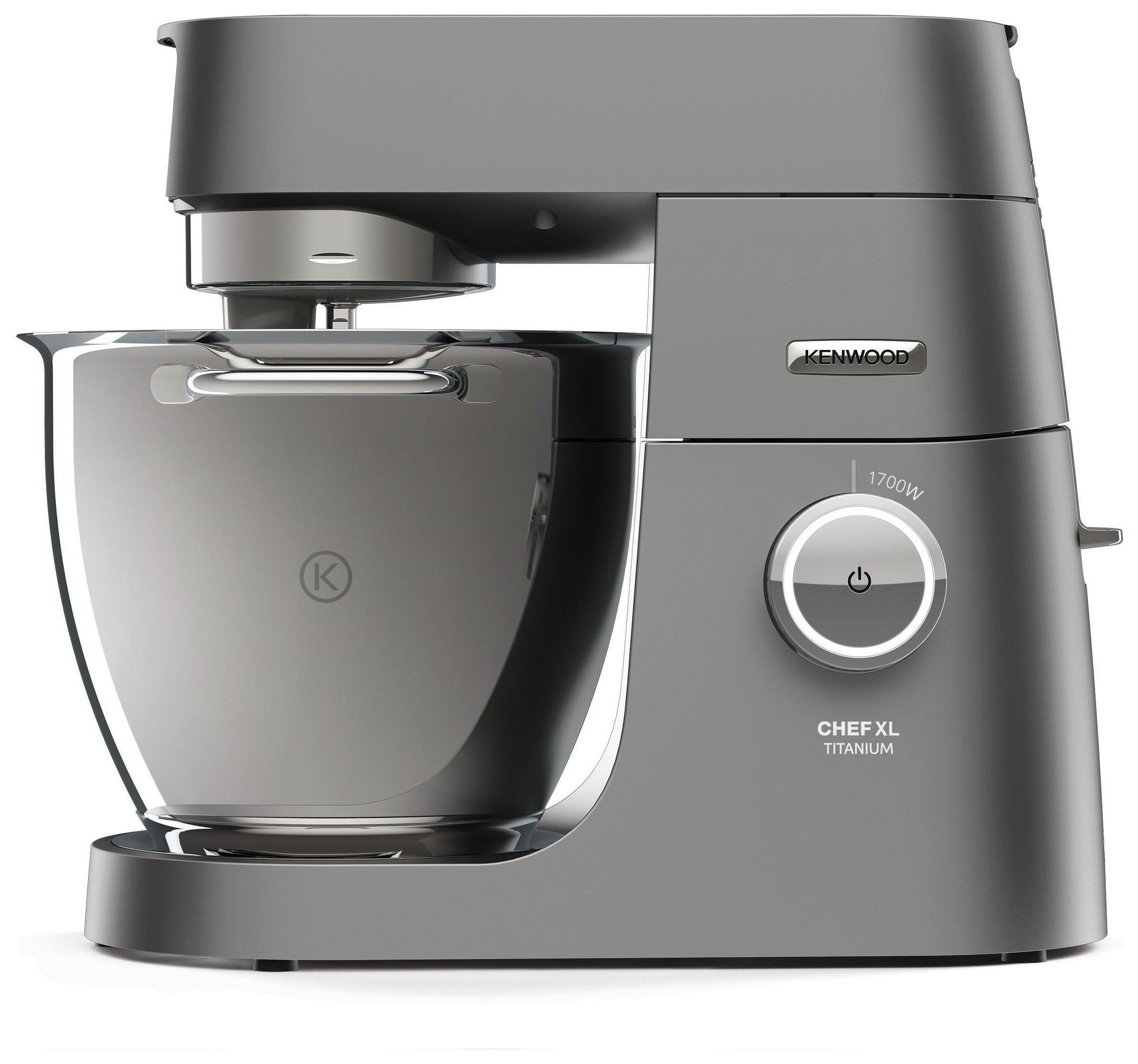 'Kenwood Chef Titanium Xl Food Mixer Freestanding - Silver.