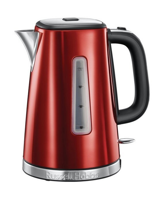 Image of Russell Hobbs 23210 Luna Quiet Boil Jug Kettle - Red