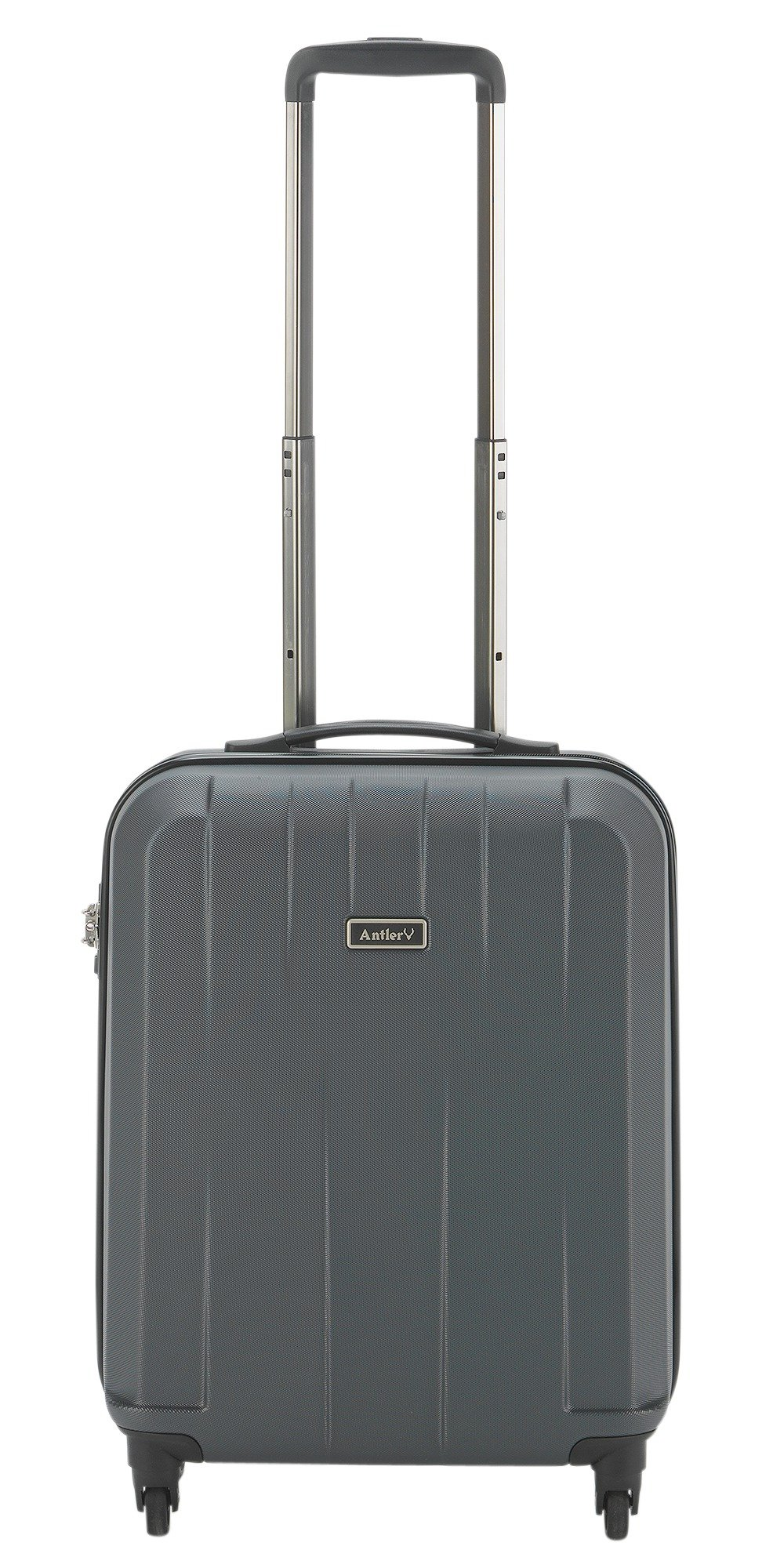 Image of Antler Quadrant Small 4 Wheel Hard Suitcase - Black/Silver