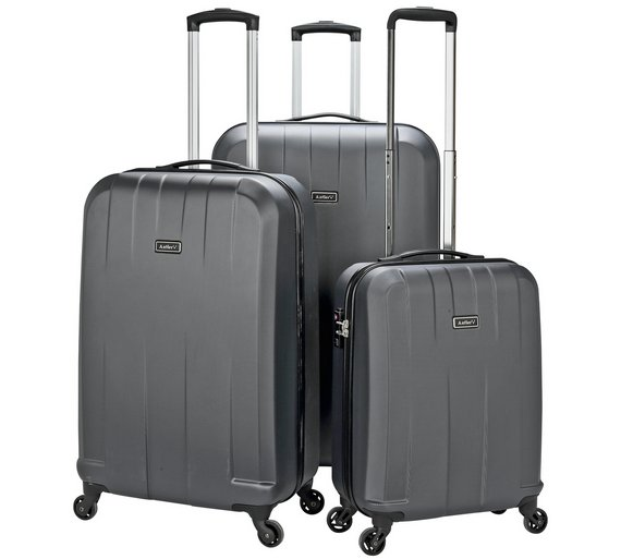 Buy Antler Quadrant Small 4 Wheel Hard Suitcase - Black/Silver at ...