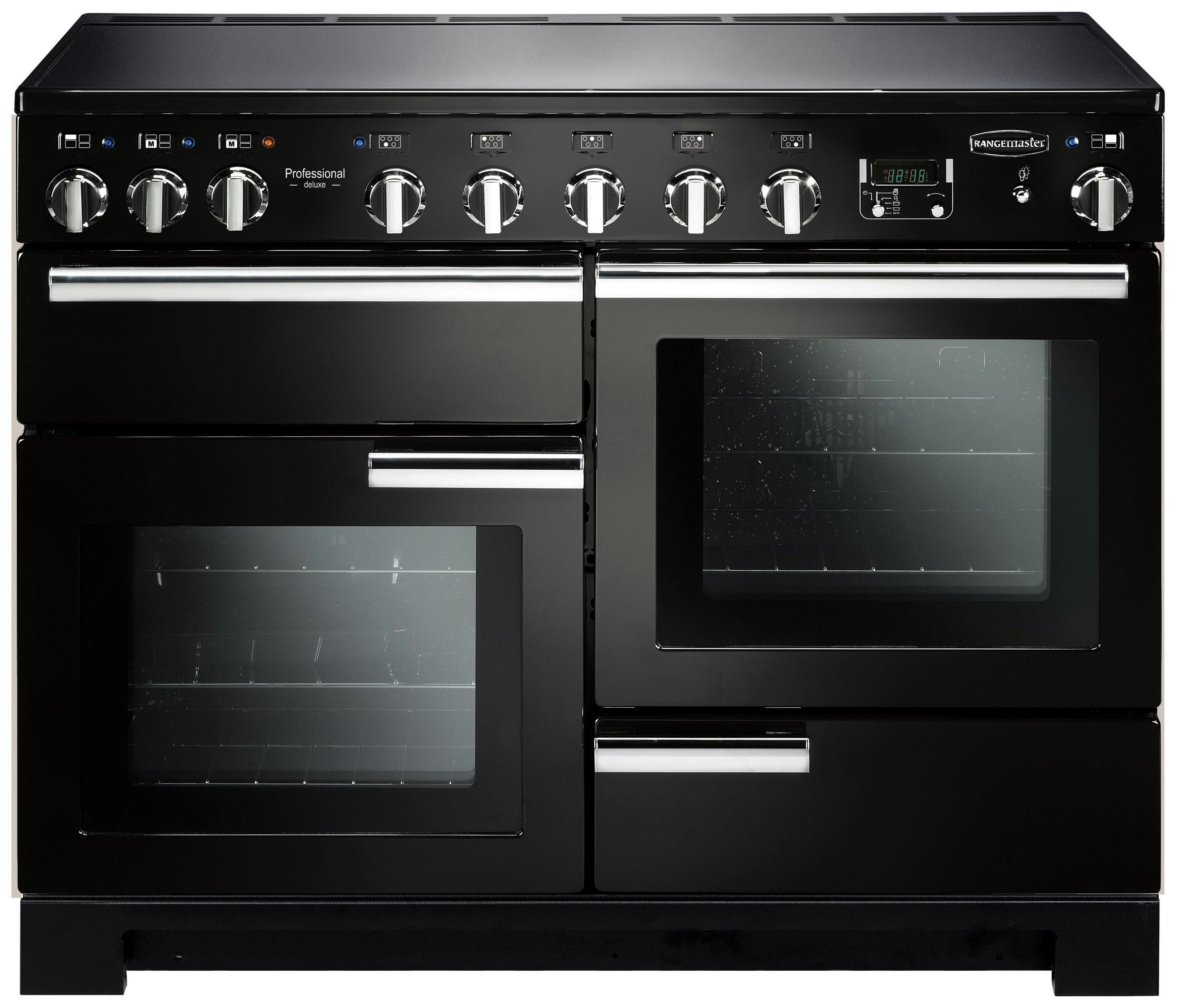 Image of Rangemaster Professional Deluxe 110cm Range Cooker - Black