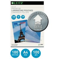 Leitz A4 100 Microns Laminating Pouches - 100 pack.