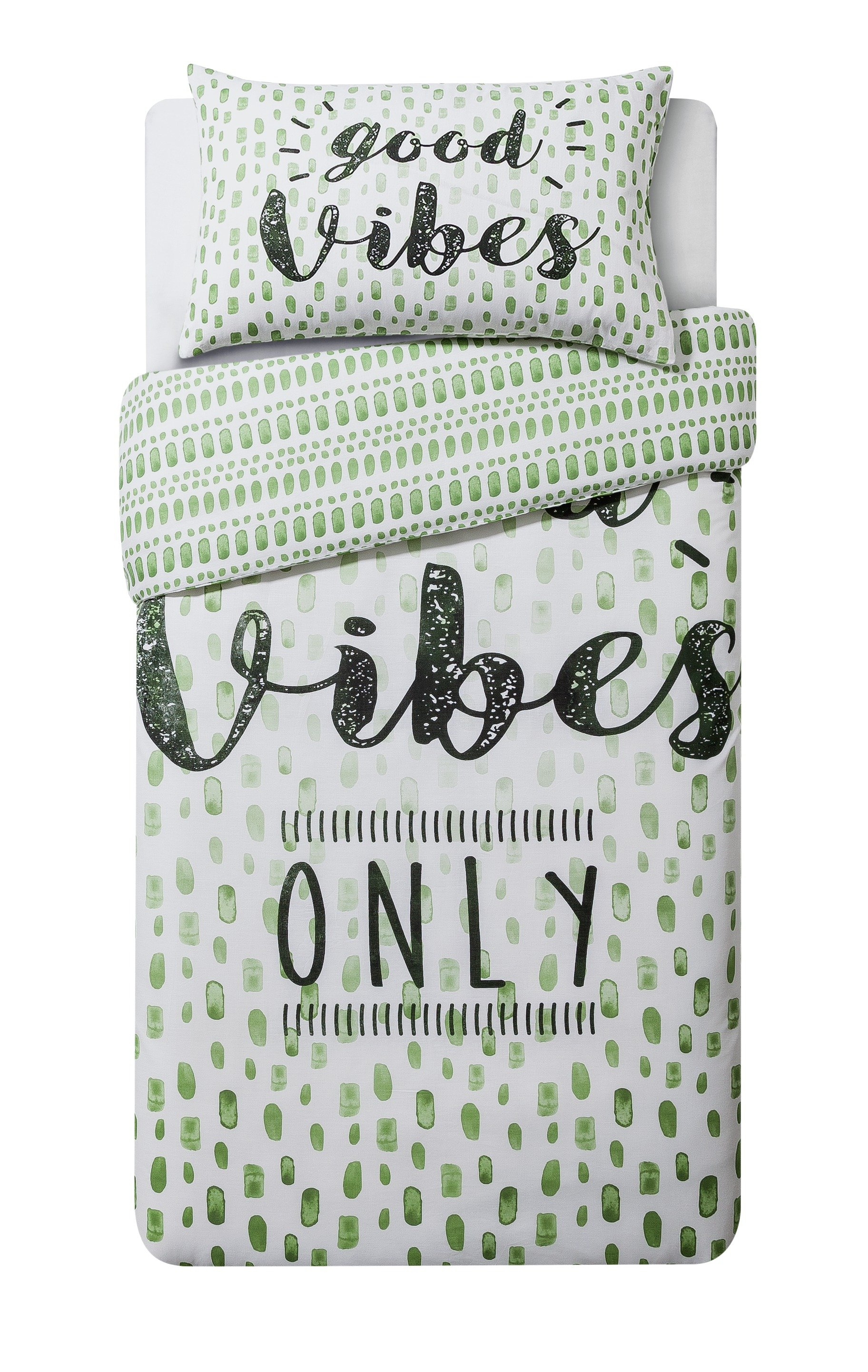 home good vibes bedding set  single