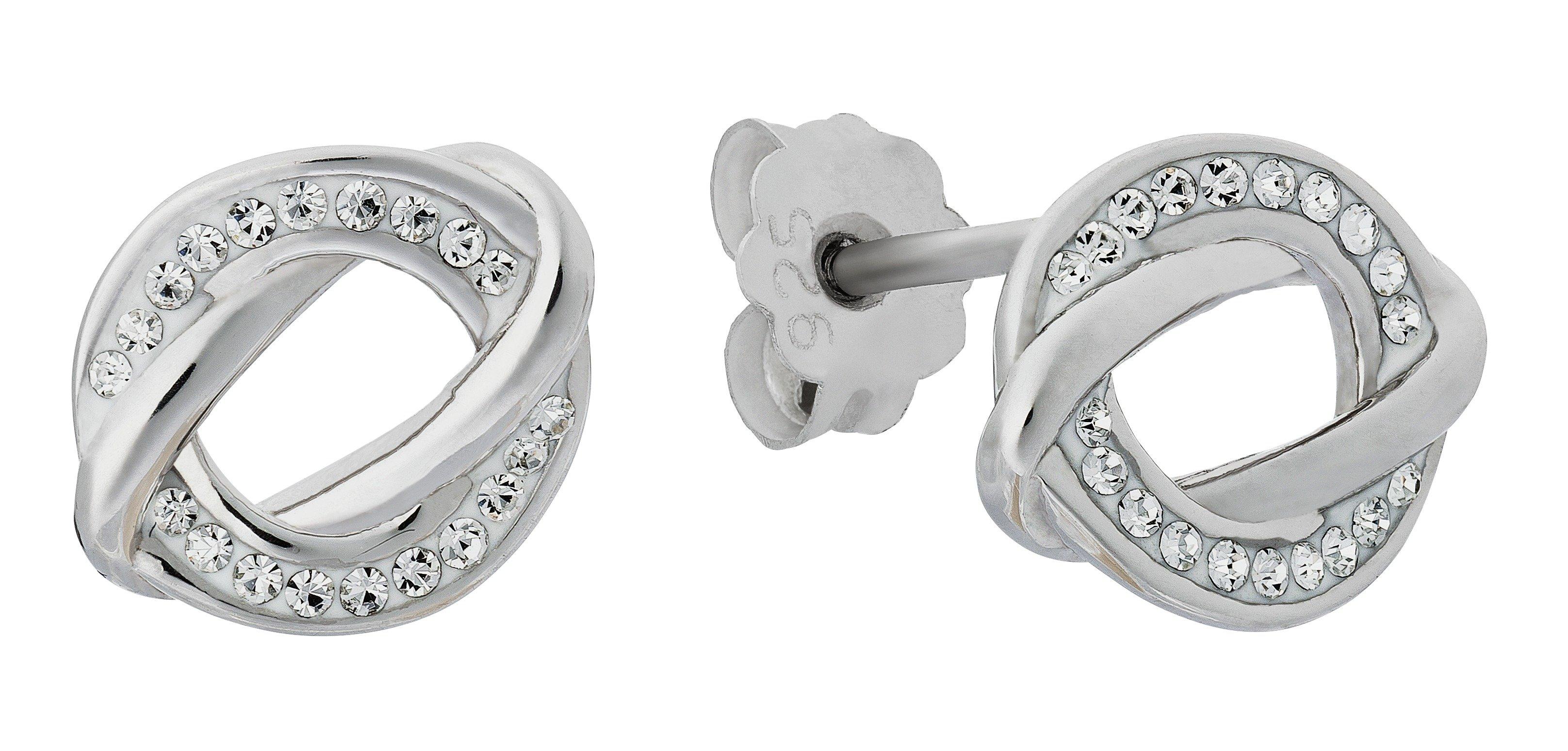 38c809e4b Evoke Rhodium Plated Sterling Silver Round Crystal Studs. (7118854)   Argos  Price Tracker   pricehistory.co.uk