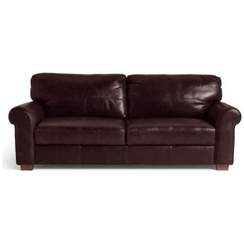 Buy Argos Home Salisbury 4 Seater Leather Sofa - Dark Brown   Sofas   Argos