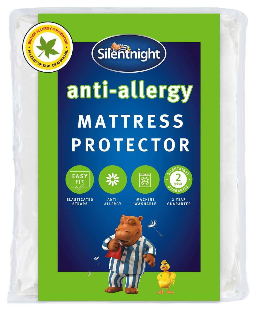 silentnight anti allergy mattress protector  superking