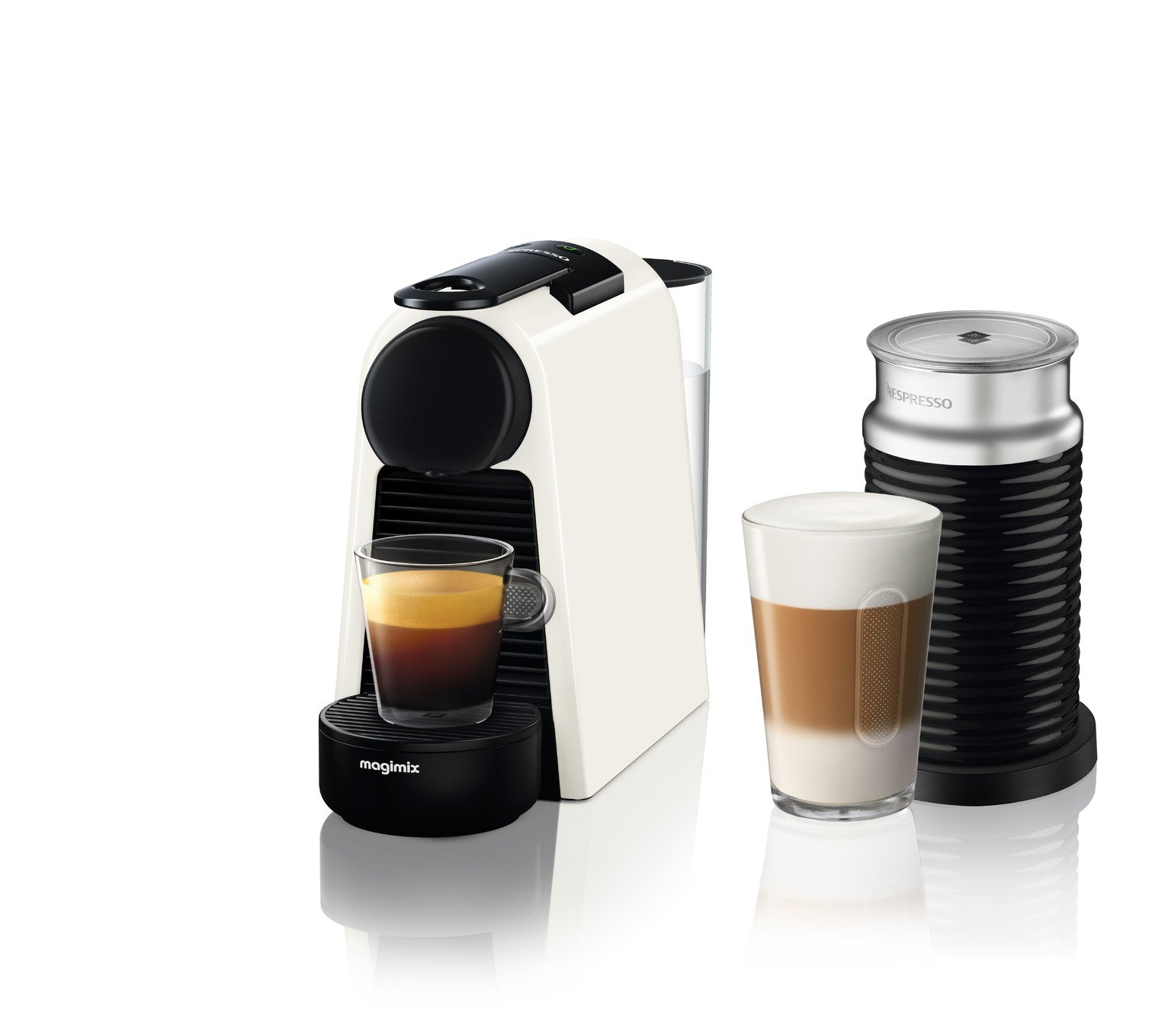 Nespresso by Magimix Essenza Pod Coffee Bundle - White