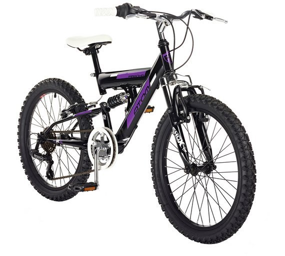 Piranha 20 Inch Atom Junior Dual Suspension Bike - Purple