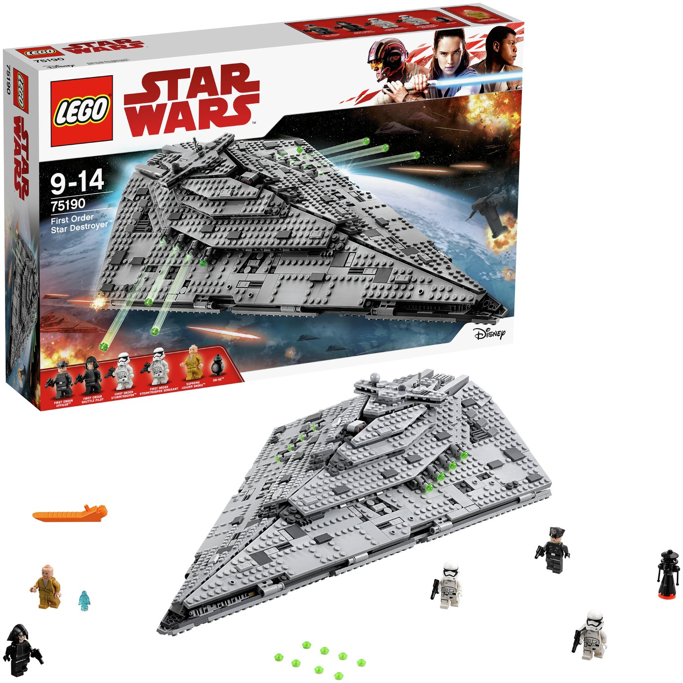 Image of LEGO Star Wars First Order Star Destroyer Toy - 75190