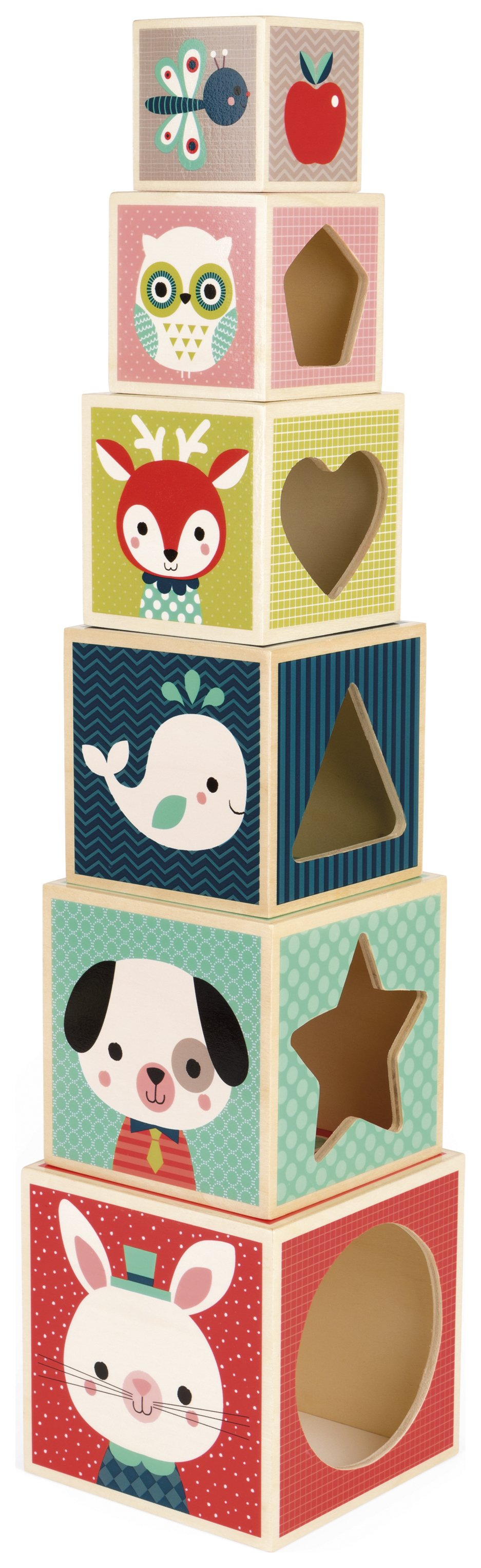 Image of Alex 6 Block Pyramid Baby Forest.