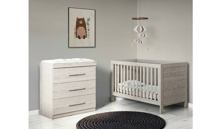 Ickle Bubba Grantham 2 Piece Nursery Set - Grey Oak