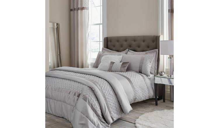 Catherine Lansfield Sequin Easycare Bedding Set - Double