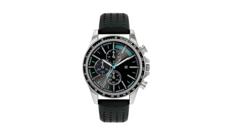 Spirit Men's Black Silicone Strap Watch