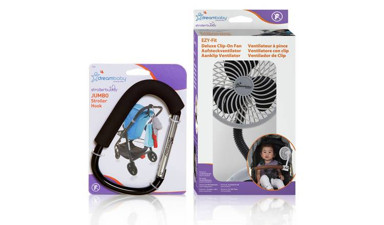 Dreambaby Stroller Hook and Fan Set