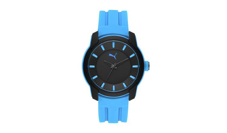 Puma Men's Blue Silicone Strap Watch