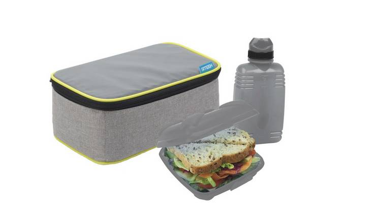 Grey All in One Lunch Bag and Box Solution