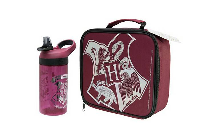 Harry Potter Crest Lunch Bag & Bottle - 600ml