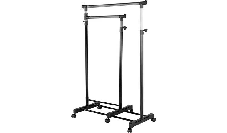 Argos Home Clothes Rail with Lower Swing Out Rail - Black