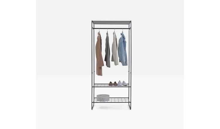 4ft Triple Arrow Heavy Duty Clothes Rail Garment Display /& 3 Price Card Holders