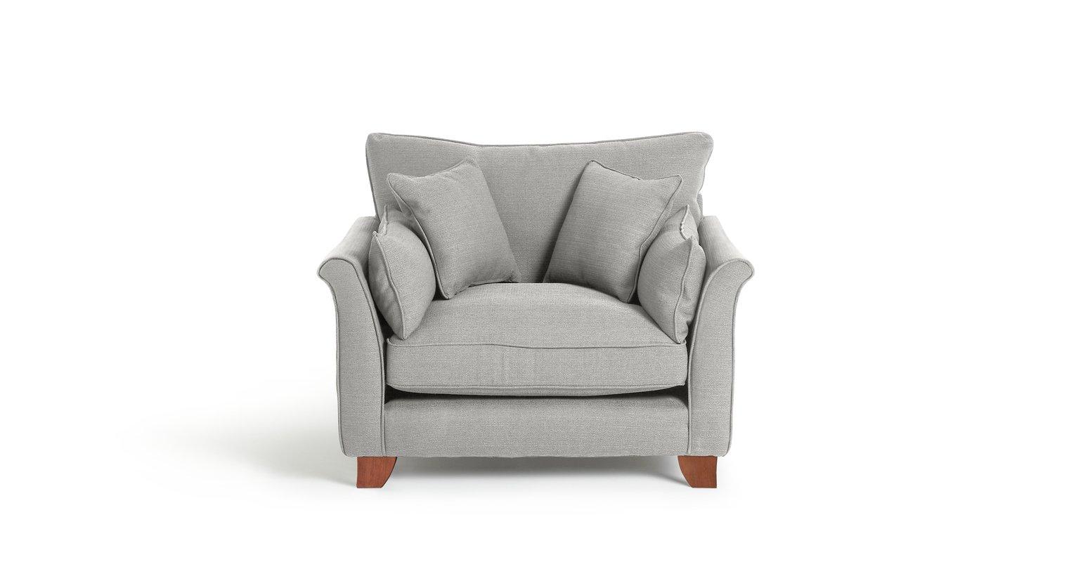 Argos Home Gracie Fabric Armchair - Grey
